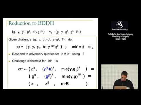 3rd BIU Winter School on Cryptography: Identity-Based Encryption and Variants - Dan Boneh