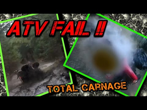 Camp Carnage ( Honda Rubicon 500 - Honda Rancher 420 Flip ( ATV Fail )