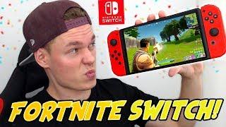 FORTNITE AUF NINTENDO SWITCH! - Fortnite Switch GAMEPLAY