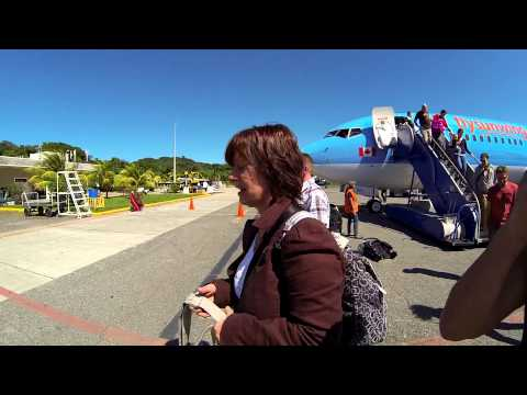 Landing and entering Roatan International Airport, Honduras GoProHero3