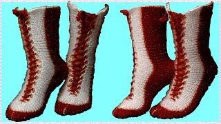 2 Şişle Çorap Yapımı Anlatımlı | Şık Bayan Çorap Modeli | El İşi Örgü modelleri