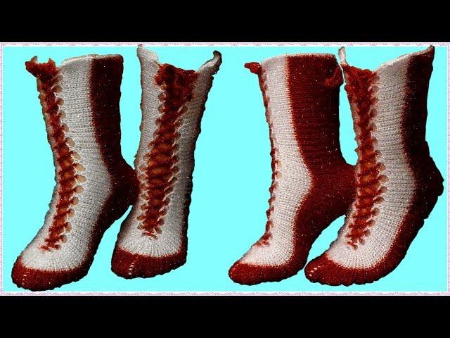2 ?i?le Çorap Yap?m? Anlat?ml?   ??k Bayan Çorap Modeli   El ??i Örgü modelleri