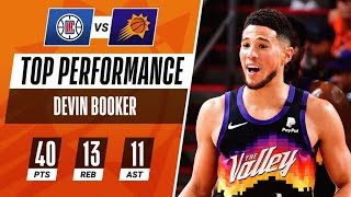 Devin Booker DROPS 1st 40 PT TRIPLE-DOUBLE of Career in Game 1! ☀️