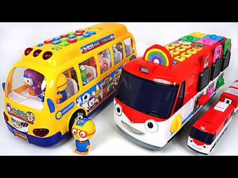 Let's go Titipo Edu Train, Pororo Children Bus! Surprise Eggs play - PinkyPopTOY