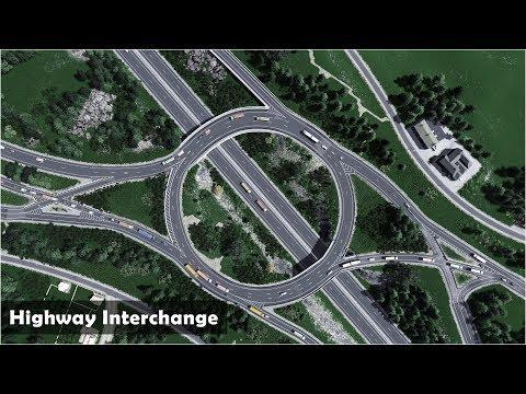 Highway Interchange in a rural area - Cities Skylines: Custom Builds