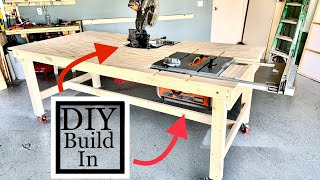 Workbench  🧰  How to Build a  Folding workbench Table saw insert and miter saw insert part 2