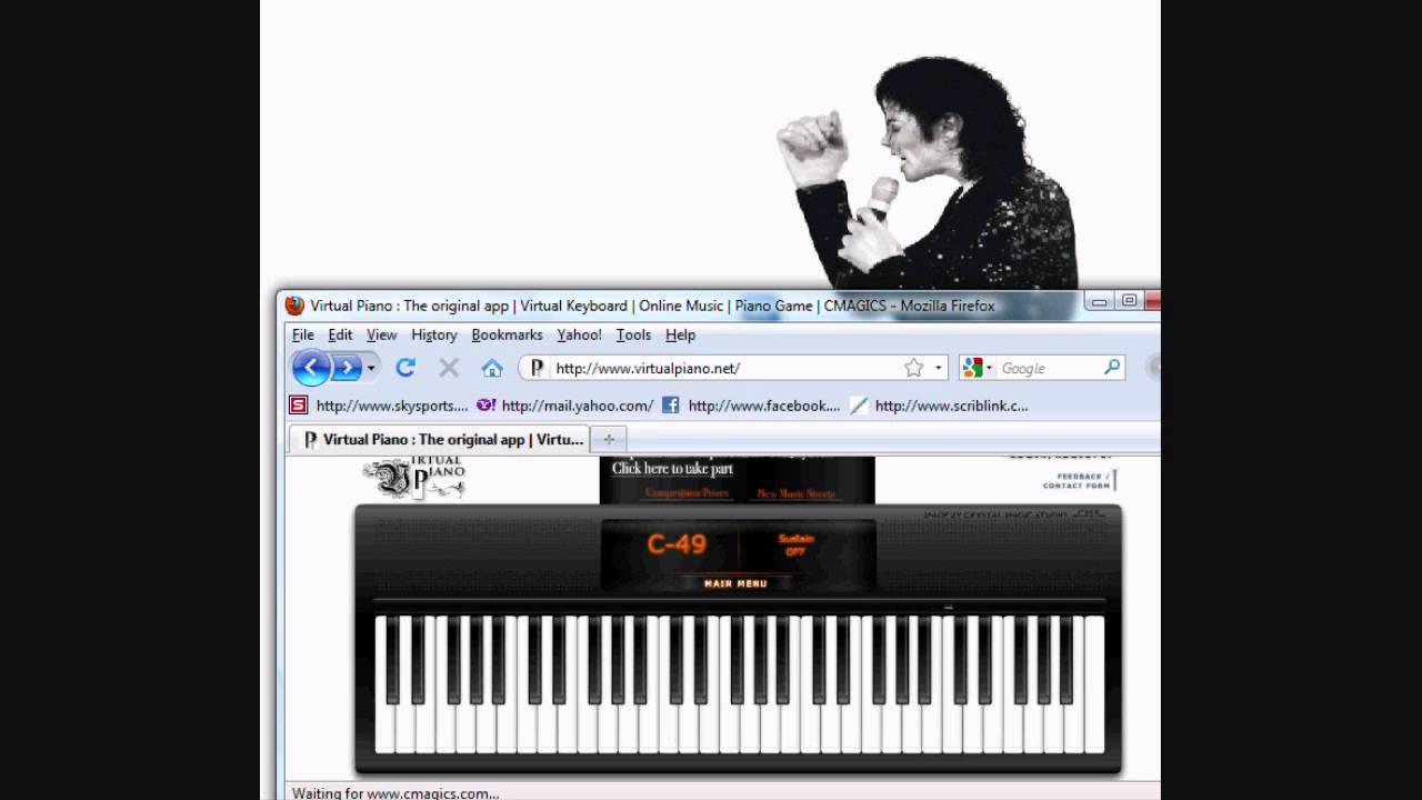 Michael Jackson's Smooth Criminal: Virtual Piano