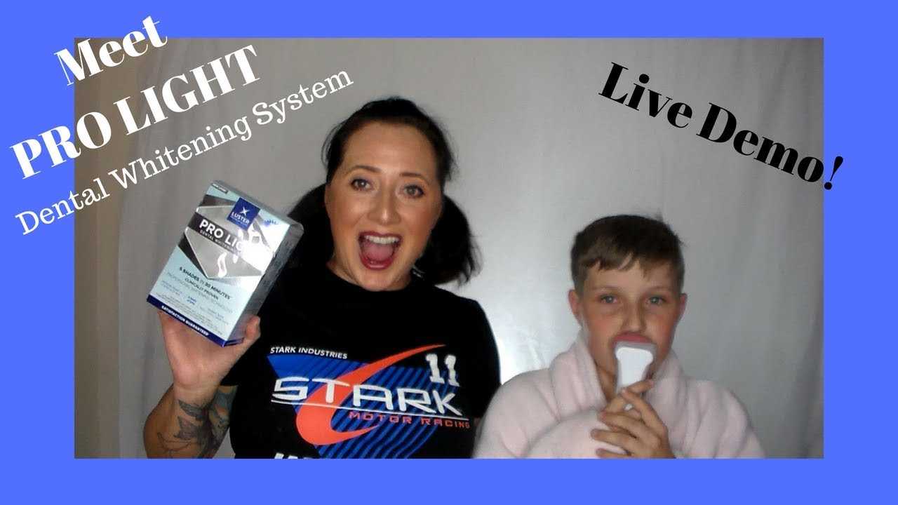 Live Demo Of Pro Light Dental Whitening System By Luster Premium White Youtube