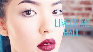 Lime Crime Haul + Review Thumbnail