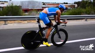 Some of the pros on two wheels from the 2014 Ironman Melbourne. See...