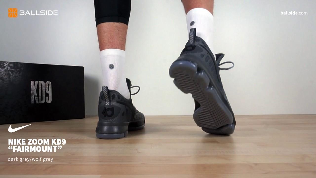 check out 3164a d83c0 Nike KD9 Fairmount on feet