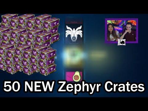 50 NEW Zephyr Crates - Painted Reactors AND Dynamos?! (Rocket League) thumbnail