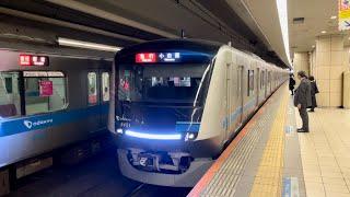 小田急新型車両5000形5051編成(トップナンバー)が到着するシーン