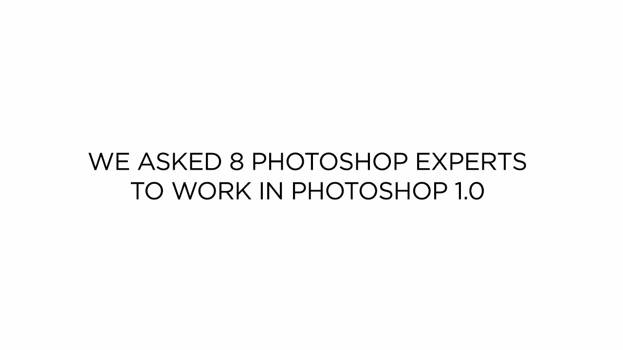 CreativeLive Asks Photoshop Experts to Open Photoshop 1.0
