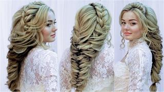 видео Свадебные прически с плетением