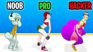 Twerk Race 3D (FUNNIEST APP GAME MOMENT) NOOB vs PRO vs HACKER | All Level Gameplay Walkthrough LV27