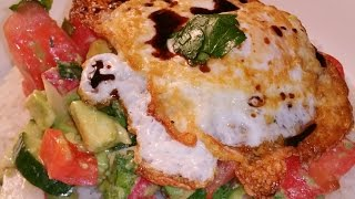 Fried Egg Salad Recipe-avocado, Tomatoes, Parlsey.....