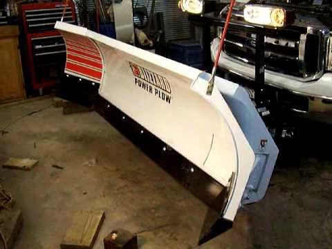 Blizzard power plow just installed. - YouTube on