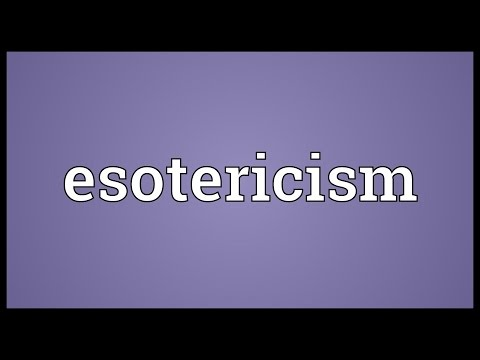 Esotericism Meaning