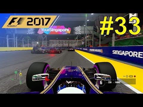 F1 2017 - Giovinazzi Career Mode #33: Singapore Grand Prix - 50% Race