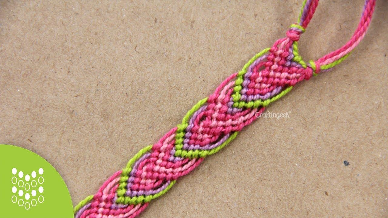 94932bcede59 Macramé Leaves: Friendship Bracelet