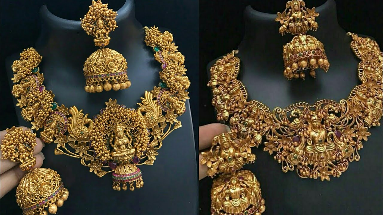 c4c6f11cf6 New Arrivals 1 gm gold temple jewelry with price || latest matt ...
