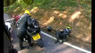 MOTORCYCLE CRASHES ON THE ROAD & Mishap Moments Caught on Camera [Ep #09]