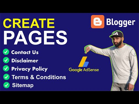 How to Create Pages for Blogger to Get AdSense Approval in O