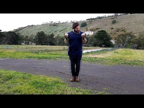 Farmer Fit Ep 7 - Quick Bicep and Shoulder Workout At The Farm - My Weight Loss Journey