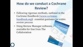 The Steps of a Cochrane Review: an Overview