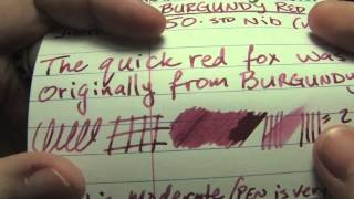 Ink Review: MontBlanc Burgundy Red Ink
