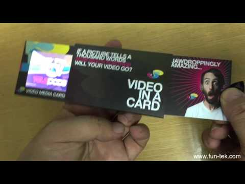 Pull-out Style 2.4'' LCD Video Business Card VBC-024P from China