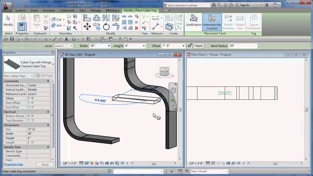 Server Rack Wiring Diagram 2004 Dodge Stratus Window Revit Cable Tray Tutorial And Tips - Cadclips Youtube