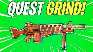 NEW CANDY CORN LMG GRIND! Fortnitemares Part 2 Quest Grind | Fortnite Save The World Livestream