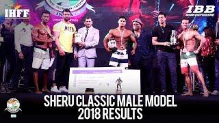 Sheru Classic 2018 Male Model Winners