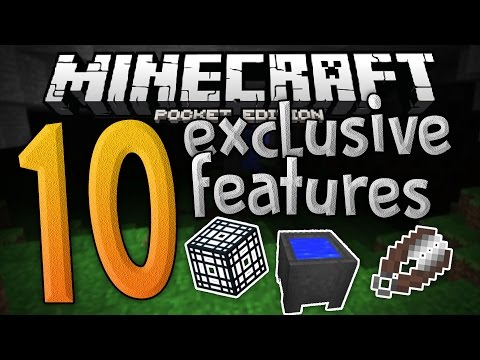 TOP 10 EXCLUSIVE FEATURES in MCPE!!! - List of MCPE Only Exclusives - Minecraft PE (Pocket Edition)