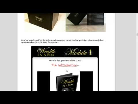 WealthInABox 3.0 Review / Wealth In A Box 3.0 iS Bonus By Jamie Lewis !!