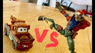 Disney Cars Toys Mater VS Rust Lord - Toy BeatBox BATTLES - Fortnite Toys