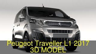 3D Model of Peugeot Traveller L1 2017 Review