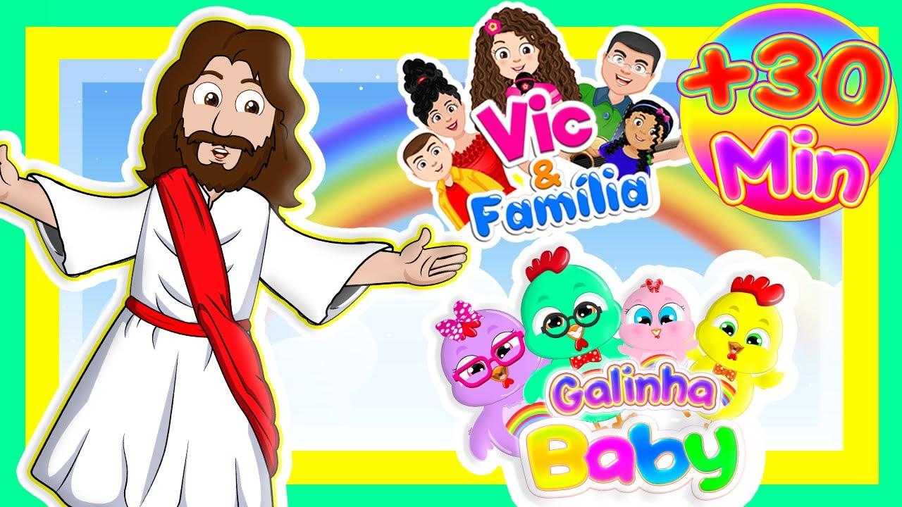 DVD Gospel 30 Min - Galinha Baby com Vic e Família - DVD Infantil Educativo