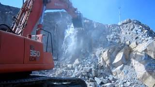 Vibro ripper EX 350 excavator   Bardai Rental Equipment Video 1