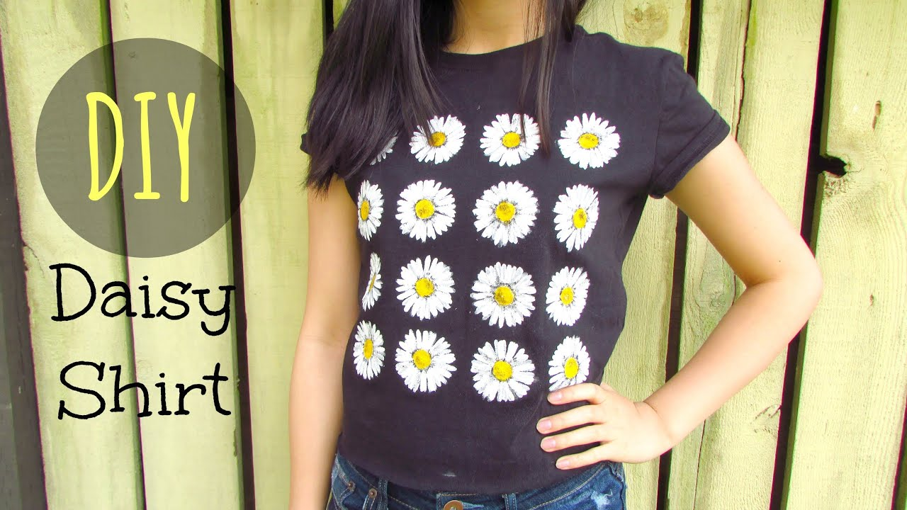 Diy brandy melville inspired shirt youtube - Diy Daisy Graphic Shirt Tumblr And Urban Outfitters Inspired Daisy Crop Top Youtube