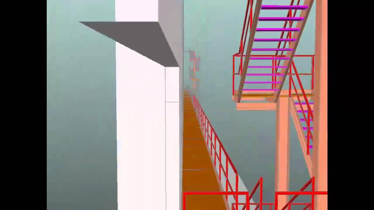 Pasarela y escalera sobre prefabricado de hormigon youtube - Escalera metalica prefabricada ...