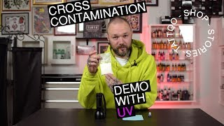 Video Tattoo Shop Stories - cross contamination demonstration with UV powder download MP3, 3GP, MP4, WEBM, AVI, FLV Juni 2018