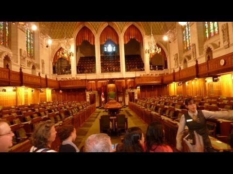 Tours of Parliament Hill Centre Block, Ottawa, Canada