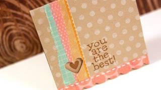 Washi Tape 3x3 Card - Make a Card Monday #149