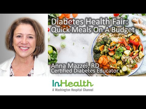 Diabetes Health Fair: Quick Meals On A Budget