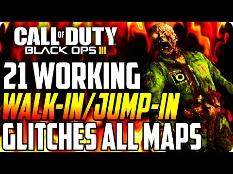 Black Ops 3 Glitches: (21 spots) Working Walk-In/Jump-In Glitches On All Maps - BO3 Zombie Glitches