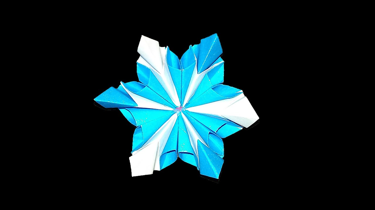 Easy Origami Flower Origami Snowflake Youtube