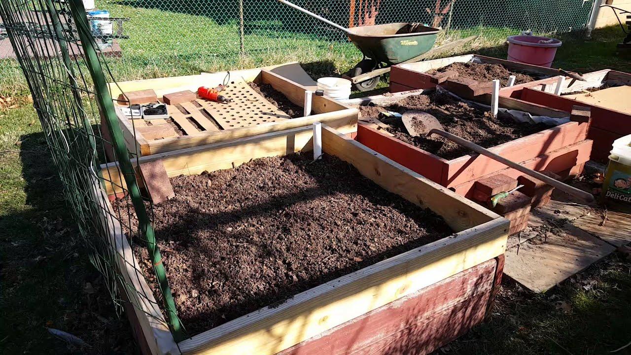 cardboard gardening using cardboard in raised garden beds for weed barriers youtube. Black Bedroom Furniture Sets. Home Design Ideas